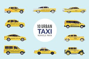 Modern Urban Taxi Vehicle Pack