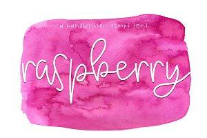 Raspberry - Handwritten Script Font