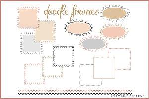 Doodle Frames in Blush & Gold
