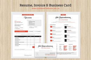Resume, Invoice and Business Card