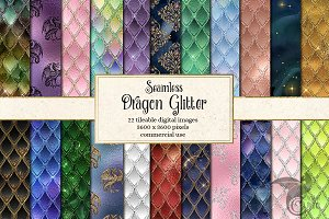 Dragon Glitter Patterns