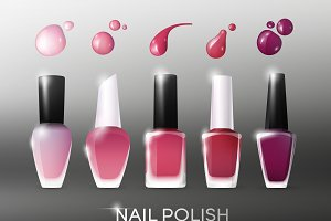 Realistic Nail Polish Collection