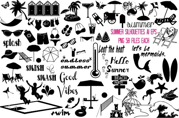 Summer Silhouettes AI EPS PNG