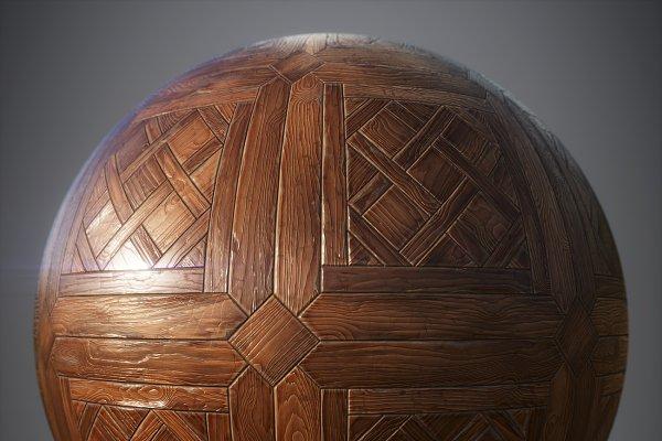 3D Wood: Sun Studio - Hardwood parquet