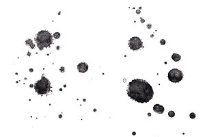 Abstract black ink splash