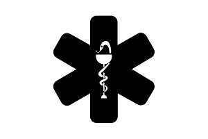 medical (ambulance) icon. vector
