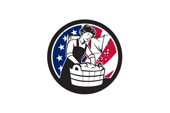 American Laundry USA Flag Icon