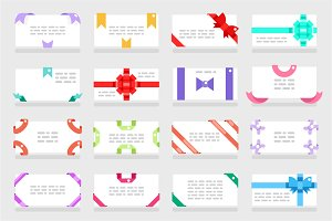 Letter envelope greeting cards set