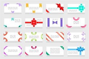 Letter envelope greeting cards set