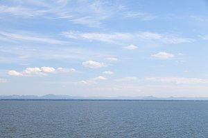 Area lake and sky