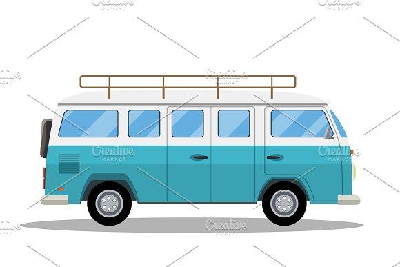 Retro Travel Van Icon