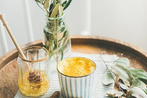 Turmeric latte, golden milk