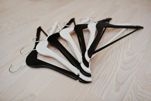 Black and white hangers