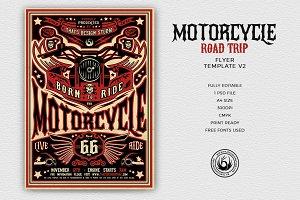 Motorcycle Road Trip Flyer V2