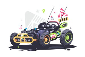 Racing car buggy