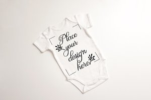 Baby suit bodysuit growsuit mockup
