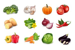 Vector Vegetables Set