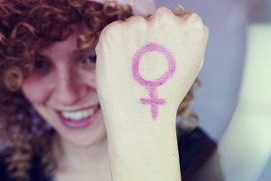 Young and feminist woman
