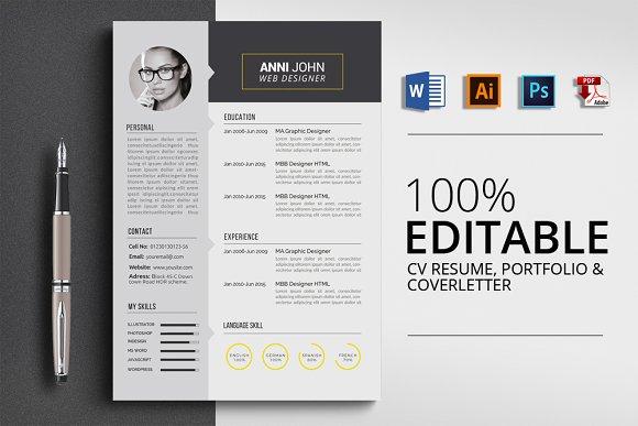Clean Word CV Resume