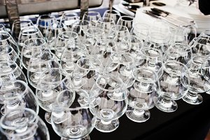 A glasses of brandy at catering