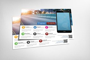 Alternative Mobile App Flyer Templat