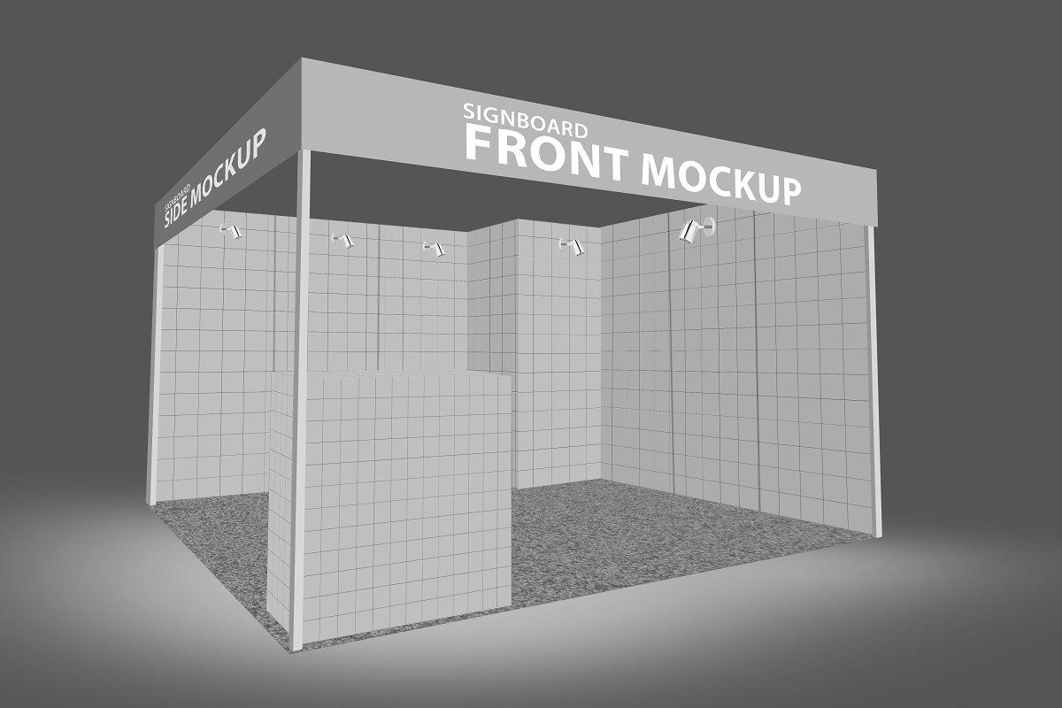 Exhibition Stall Mockup : Trade fair wall mockup ~ mockup templates ~ creative market