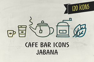 Cafe Bar Icons - Jabana