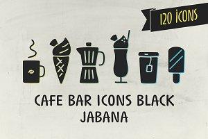 Cafe Bar Icons Black - Jabana
