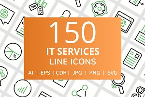 150 IT Services Line Icons