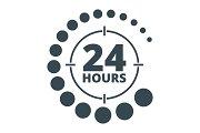 24 hours around black