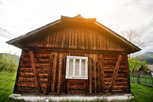 Antique wooden house