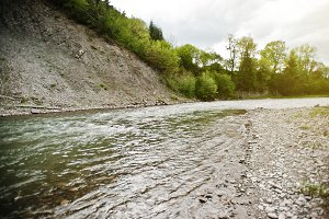 Mountain river in Carpathian