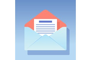 envelope blue icon