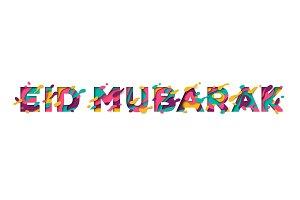 Eid Mubarak typographic concept