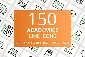 150 Academics Line Icons