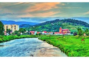 The Latoritsa river at Mukachevo, Ukraine