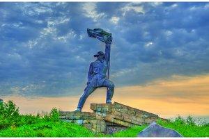 World War II monument at the Ukraine - Slovakia border in Uzhhorod
