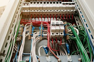 electrical panel with fuses