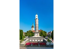 Red Army Memorial and St. Nicholas Cathedral - Presov, Slovakia