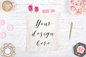 Pretty Tote Bag Mockup Photo