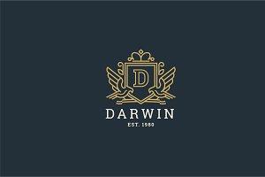 Letter D Logo - Heraldic,Crest Logo
