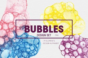 BUBBLES /disng set + design alphabet
