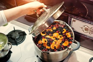 currant and apricot compote
