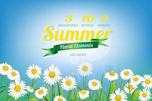 Summer Floral Elements