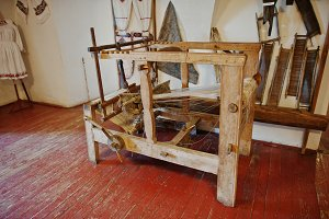 Homespun weaving hand loom