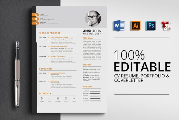 Office Word 3 Pages CV Resume