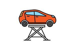Car lift color icon