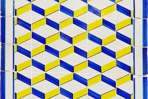 Traditional portuguese tiles azulejo