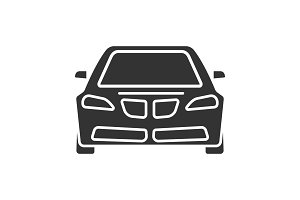 Car front view glyph icon
