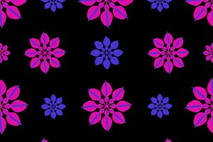 Stylized Dark Floral Pattern